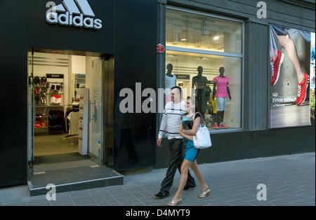 Lviv, Ukraine, ein Adidas-shop - Stockfoto