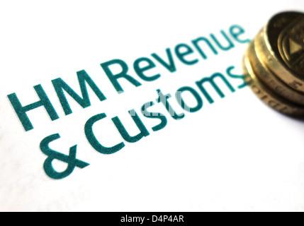 HM-Einnahmen und Bräuche-logo - Stockfoto