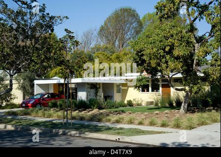 case study house 1960er jahren mitte des jahrhunderts moderne architektur in west los angeles stockfoto - Mitte Des Jahrhunderts Modernes Haus