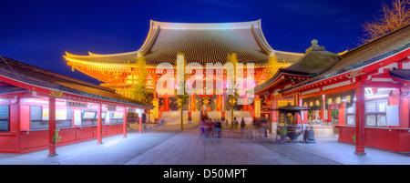 Senso-Ji Tempel in Asakusa, Tokio, Japan. - Stockfoto