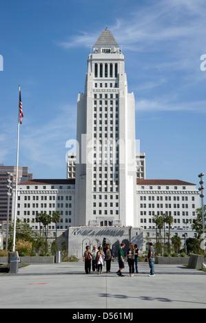 Rathaus in der Innenstadt von Los Angeles, Kalifornien - Stockfoto