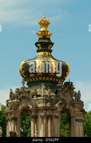 Crown Gate, Zwinger Palast, Dresden, Sachsen, Deutschland - Stockfoto