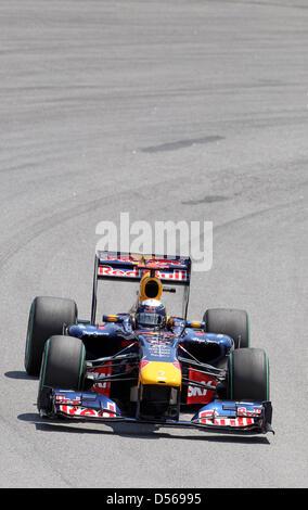 Deutschlands Sebastian Vettel von Red Bull Racing, während das Rennen im Autodromo Jose Carlos Pace in Sao Paulo, - Stockfoto