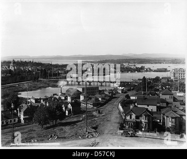 Victoria vom Turm der Kathedrale, BC, 1897 - Stockfoto