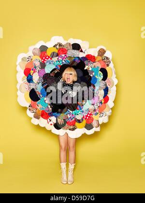Eine undatierte RJ Shaughnessy/Sony Music Handout der australische Sängerin Sia. SIA durchläuft Therapie zur Bewältigung - Stockfoto