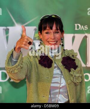 """Schauspielerin Geraldine Chaplin kommt an die einladende Partei die neue Hauptdarstellerin von """"Wicked"""" im Metronom - Stockfoto"""
