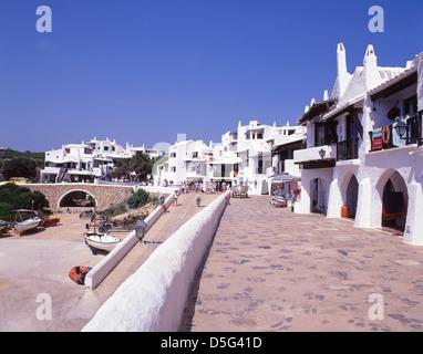 Weiß gekalkt Angeln Dorfentwicklung von Binibeca, Menorca, Balearen, Spanien - Stockfoto
