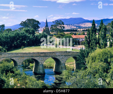 Australien, Tasmanien, Richmond, Ansicht von der 1823-1825 verurteilte Richmond Brücke gebaut - Stockfoto