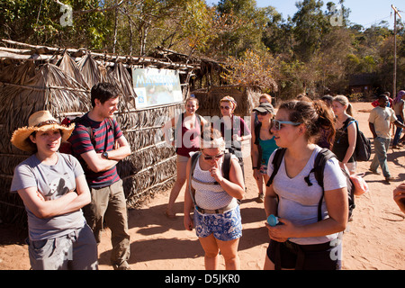 Madagaskar, Betrieb Wallacea, Matsedroy Forest camp, Oberstufe Studenten - Stockfoto