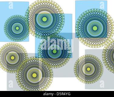 Atemberaubende einzigartige auffallend zart strukturierte verflüssigt modernen abstrakten Design perfekt für Wallpaper - Stockfoto