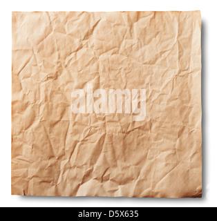 Stapeln von alten Papier auf weißem Hintergrund. Clipping-Pfad - Stockfoto