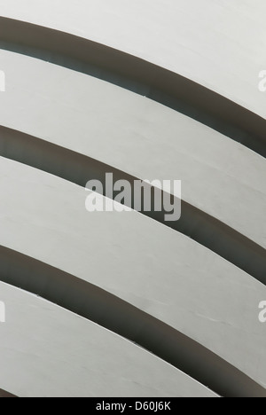 Detail des Gebäudes von der Solomon R. Guggenheim Museum, Upper East Side, Manhattan, New York, USA, PublicGround - Stockfoto