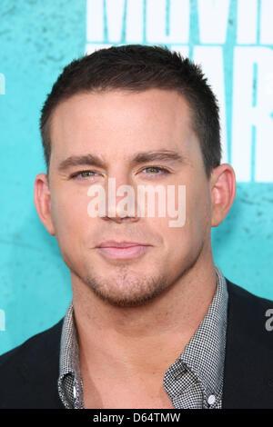 US-Schauspieler Channing Tatum kommt auf dem roten Teppich der 2012 MTV Movie Awards im Gibson Amphitheater in Universal - Stockfoto