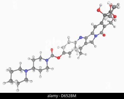 Irinotecan Wirkstoffmolekül - Stockfoto