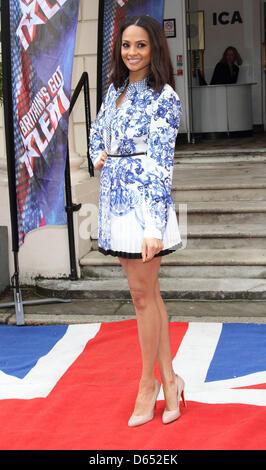 "London, UK. 11. April 2013. Alesha Dixon bei ""Britain es Got Talent"" Pressekonferenz, an der ICA, London - 11. April - Stockfoto"