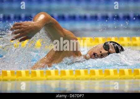 Kosuke Hagino (JPN), 13. April 2013 - Schwimmen: JAPAN schwimmen 2013 Männer 200 m Lagenschwimmen Wärmeregelung Daiei Probis Phoenix Pool, Niigata, Japan. (Foto von Yusuke Nakanishi/AFLO SPORT)