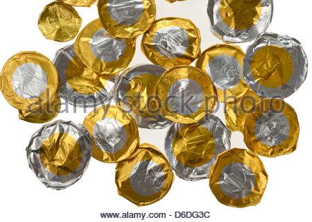 Gefälschte Euro Geld Währung Mit Leichtmetall Hergestellt Alle