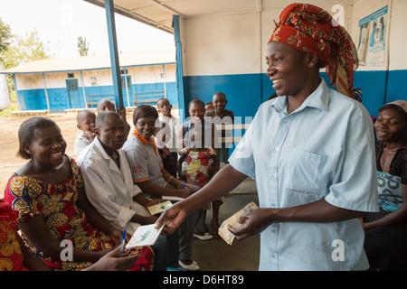 Mikrofinanz-Gruppe in Goma, demokratische Republik Kongo. - Stockfoto