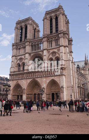 Kathedrale Notre Dame de Paris auf der Ile De La Cite, Paris, Frankreich, Europa - Stockfoto