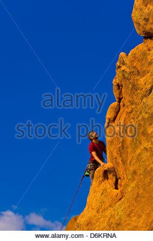 Klettern, Garten der Götter, Colorado Springs, Colorado USA - Stockfoto