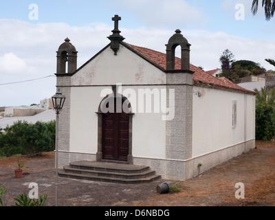 Kirche oder Kapelle im typisch Kanarischen Insel Baustil in Buenavista del Norte, Teneriffa - Stockfoto