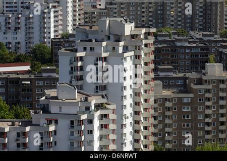 Berlin, Deutschland, Übersicht der Gropius-Stadt - Stockfoto
