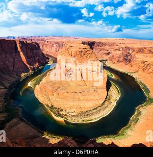 Ansicht des berühmten Horse Shoe Bend in Utah, USA - Stockfoto