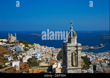 Ermoupoli (Chora), Insel Syros, Cyclades, griechische Inseln, Griechenland, Europa - Stockfoto
