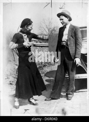 Bonnie Parker und Clyde Barrow, 1933 - Stockfoto