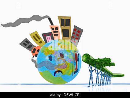 Key to Go Green, Konzept alternativer Energie Konzept Ökologie macht Alternative Öko Ökologie ökologisch Windstrom