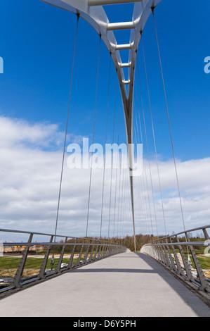 Die Infinity-Brücke Stockton-On_Tees-Nord-Ost England UK - Stockfoto