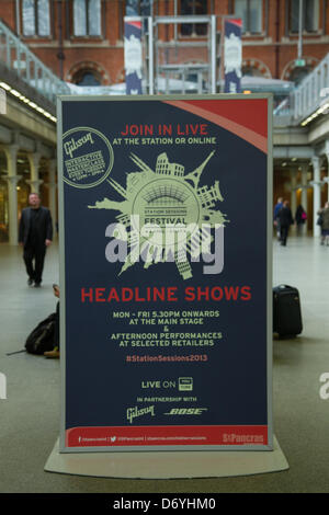 London, UK. 25. April 2013. Unsere großen Gig Start in St Pancras Station, London, UK. Die Veranstaltung, die vom - Stockfoto