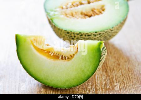 Eine Art von Melone genannt Honigtau - Stockfoto