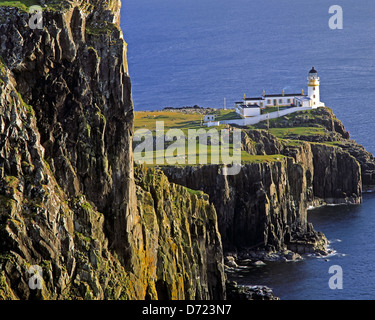 Gb - Schottland: neist Point Lighthouse auf die Isle of Skye Stockfoto