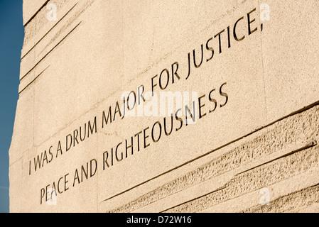 WASHINGTON DC, USA - Umstrittene inscruption an der Martin Luther King Jr. Memorial am Ufer des Tidal Basin in Washington - Stockfoto
