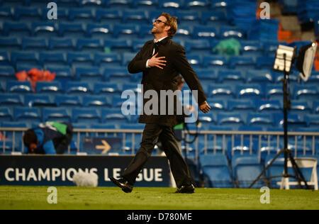 Dortmunds Trainer Juergen Klopp am Ende der UEFA Champions League Halbfinale feiert zweiten Bein Fußballspiel zwischen - Stockfoto