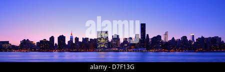 Panorama von Midtown New York City - Stockfoto