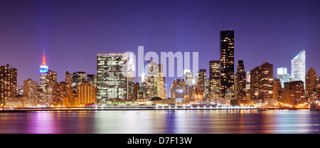 Panorama von Midtown New York City - Stockfoto