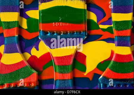 Bunte abstrakte Tarnung Pinsel - Stockfoto