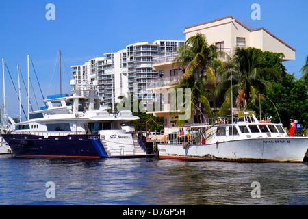 Hollywood Florida Atlantic Intracoastal Waterway Hochhaus Eigentumswohnung Gebäude South Ocean Drive Wasser Mega - Stockfoto