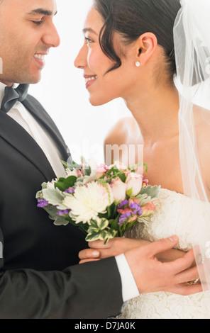 Glückliche Brautpaar - Stockfoto