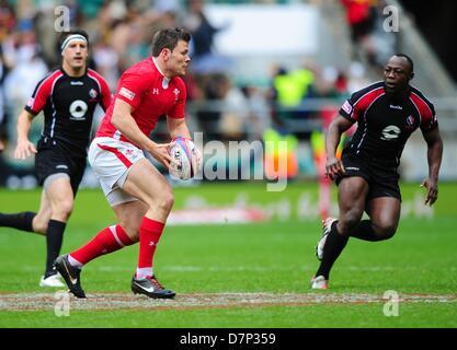London, UK. 11. Mai 2013. Adam Thomas in Aktion für Wales gegen Kanada während der Marriott London Sevens World - Stockfoto