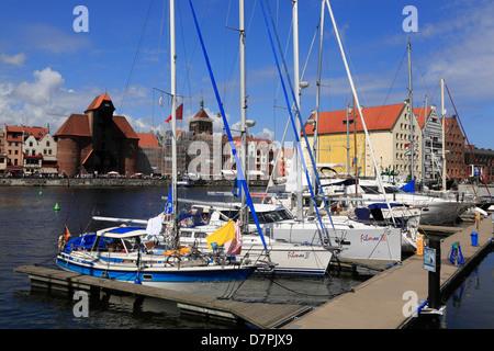 Segelboote, Fluss Mottlau, Danzig, Polen - Stockfoto