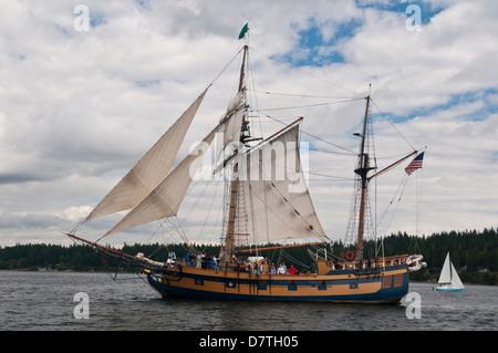 USA, WA, Brownsville. Die Hawaiian Chieftain. Für die Ausbildung im Puget Sound von Grays Harbor historische Hafenstadt - Stockfoto