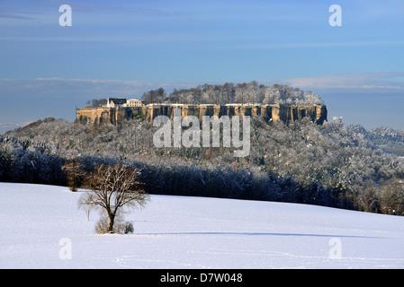 Festung Königstein, Elbsandsteingebirge, Sachsen, Deutschland - Stockfoto