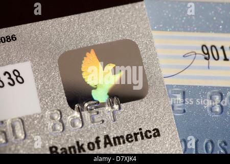 Kreditkarte Sicherheitshologramm - Stockfoto