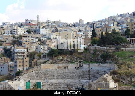 Römisches Amphitheater in Amman, Jordanien, Naher Osten - Stockfoto