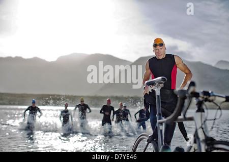 Triathleten aus Wasser - Stockfoto