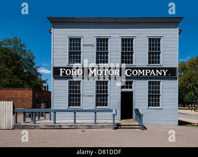 Das original Ford Motor Company-Hauptquartier nach Greenfield Village in Dearborn, Michigan verlegt - Stockfoto