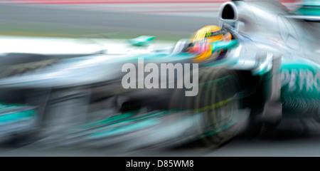 Lewis Hamilton (GBR), Mercedes F1 W04 während der spanischen Formel 1 großer Preis von 2013 - Stockfoto